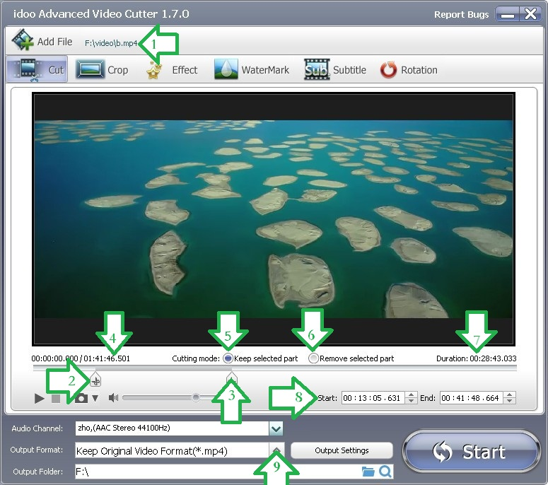 How To Cut Video for Samsung Note 3 by idoo Video Editor
