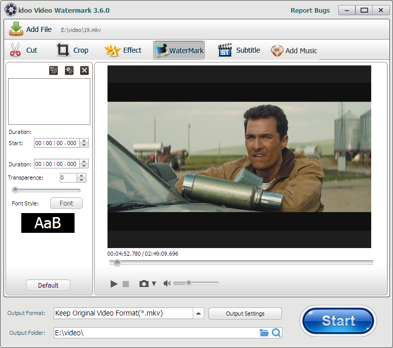 add watermark to MKV