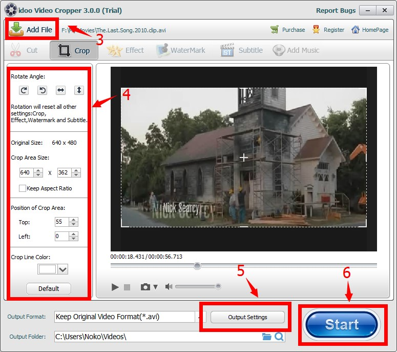 How to crop avi video files without re encode idoo video cropper features ccuart Choice Image