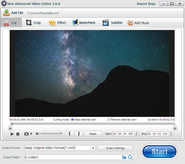 mxf editing software