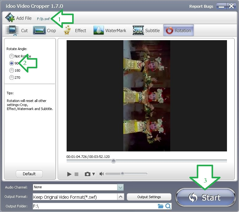 3gp video rotate software free download