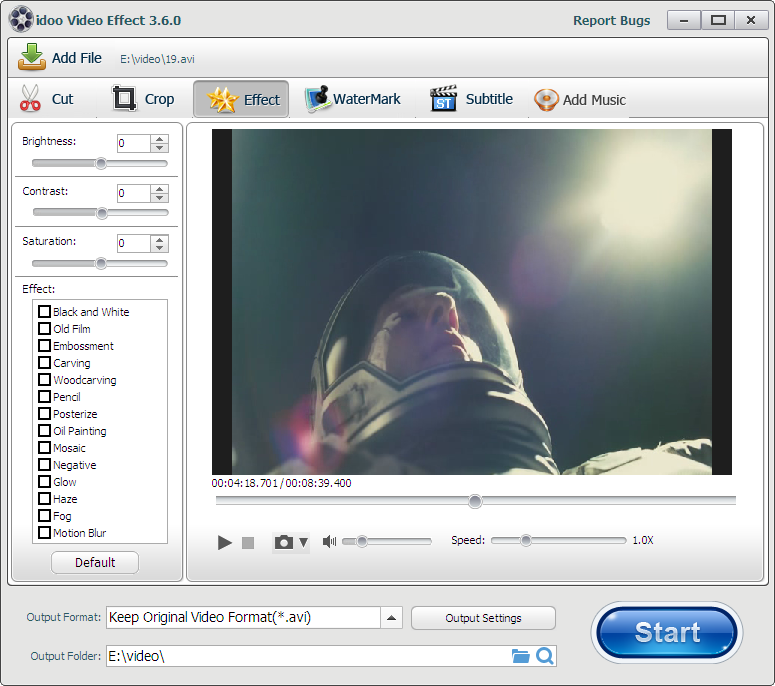 How to set video speed by idoo Video Editor?