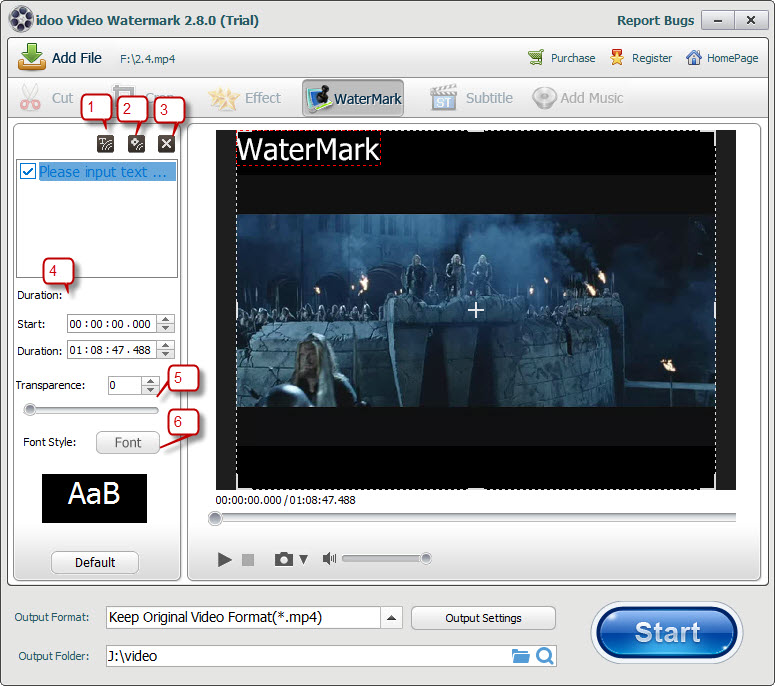 video edit watermark